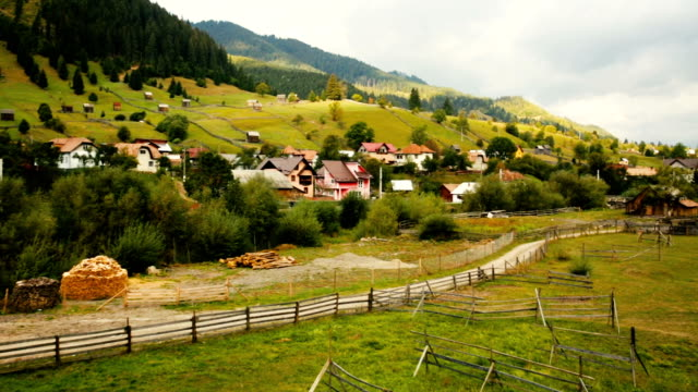 old Sadova village in Karpaty on Bucovina video