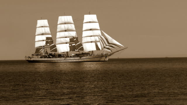 old sailboat in sepia tone old sailboat in sepia tone the past stock videos & royalty-free footage