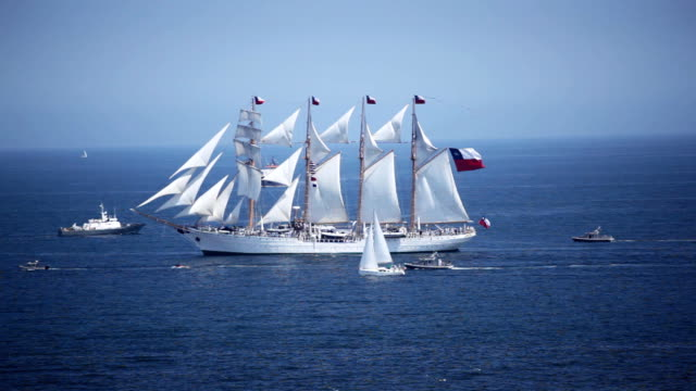 Old Sailing Ship Old Chilean sailing ship. mast sailing stock videos & royalty-free footage