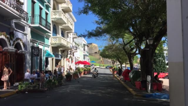 Old San Juan in Puerto Rico Old San Juan (downtown) in Puerto Rico puerto rico stock videos & royalty-free footage
