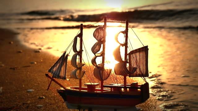 old ship by the beach - antsiranana video stock e b–roll
