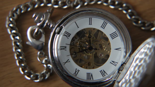 Old silver pocket watch. video