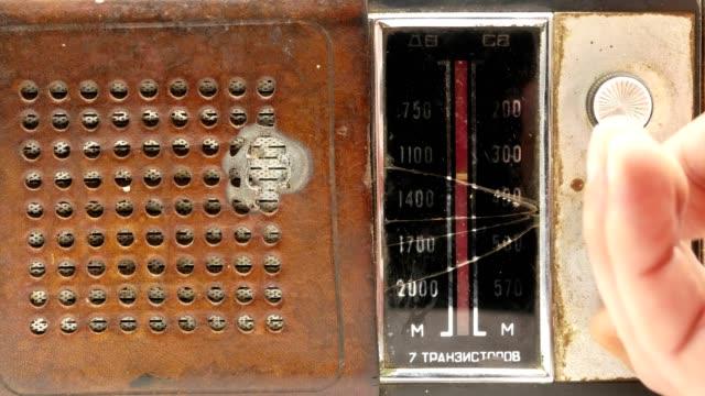 Old soviet vintage radio receiver 4k video