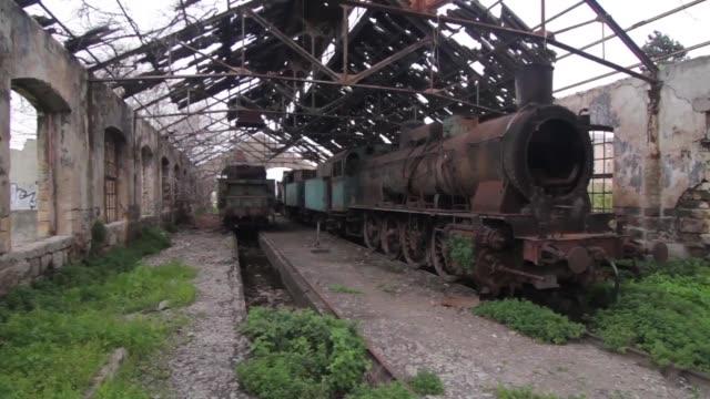 的黎波里的舊蒸汽火車 - lebanon 個影片檔及 b 捲影像