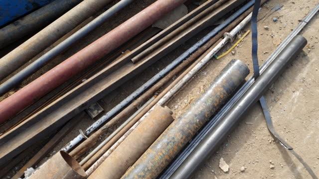 old steel pipe - spranga video stock e b–roll