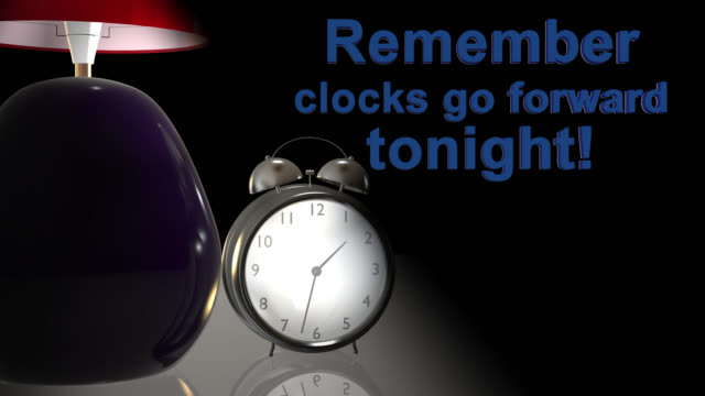 Old style alarm clock going forward one hour An old style alarm clock going back one hour to mark the start of British Summer Time and the end of Greenwich Mean Time daylight savings stock videos & royalty-free footage