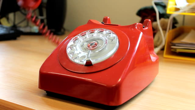 Old Style Telephone An old style telephone is used obsolete stock videos & royalty-free footage