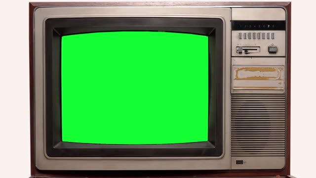 Old Television vintage Style with Signal Interference on white background