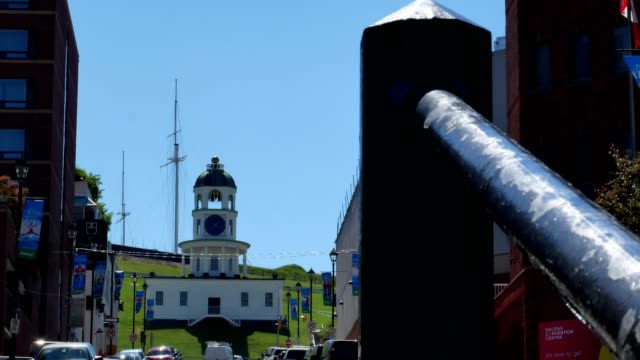 Old Town Clock Halifax Nova Scotia A shot of the famous old Town Clock on Citadel Hill in Halifax, Nova Scotia fort stock videos & royalty-free footage