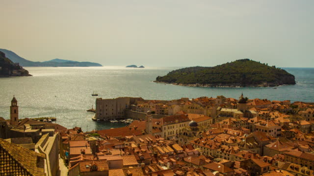 Old town Dubrovnik with sea view video