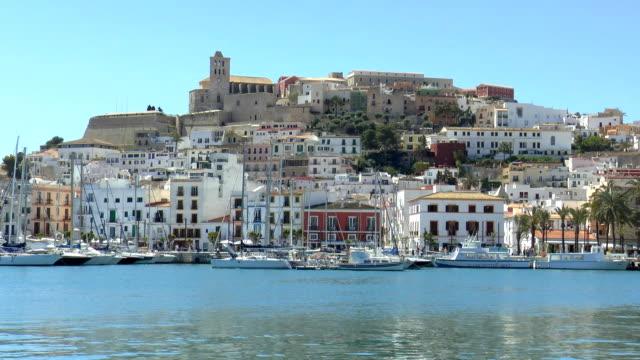 stary town-ibiza, hiszpania - ibiza filmów i materiałów b-roll