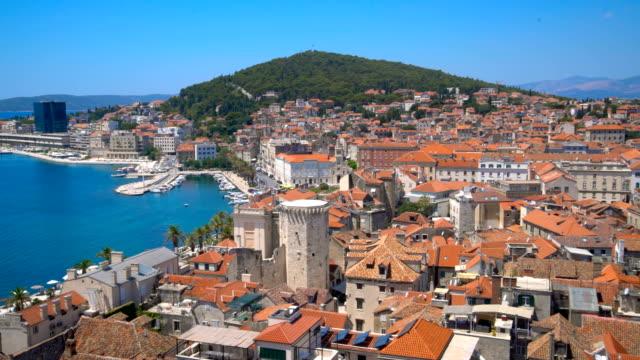 old town of split , croatia - хорватия стоковые видео и кадры b-roll