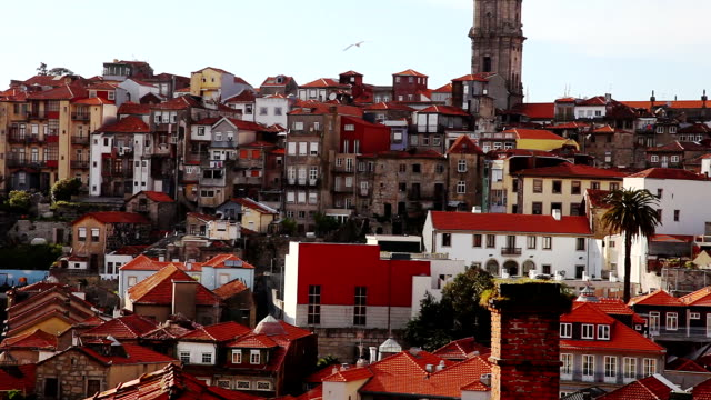 stockvideo's en b-roll-footage met old town oporto - portugal