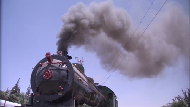 Old train in Syria Old steam trains/Al-Hijaz Train Station/Damascus,Syria 30.09.2015 damascus stock videos & royalty-free footage