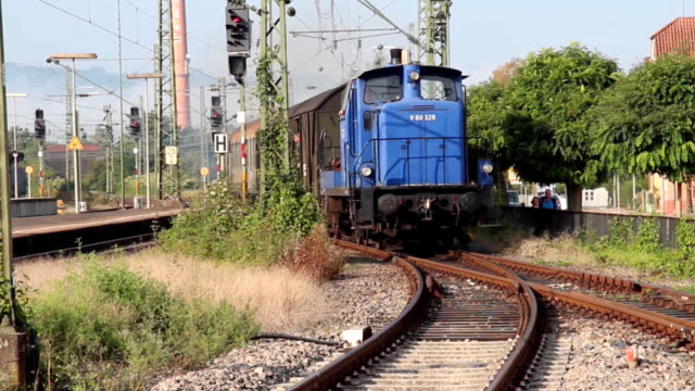 Old train is coming in video