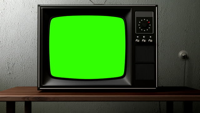 old TV old TV. switching channels animation start button stock videos & royalty-free footage