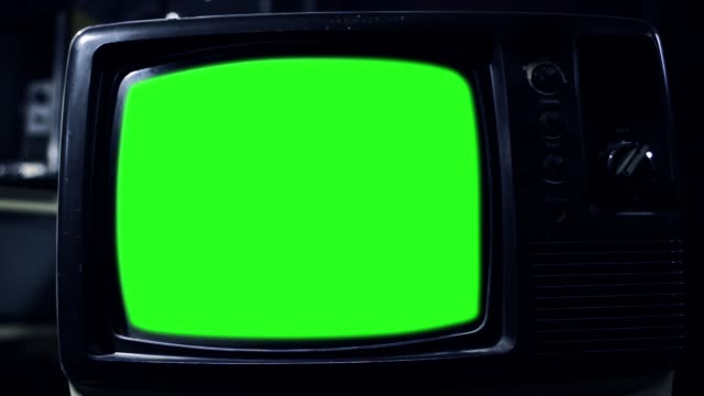 """Old TV with Green Screen. Aesthetics of the 80s. Night Tone. Old TV with Green Screen. Aesthetics of the 80s. Night Tone. You can replace green screen with the footage or picture you want. You can do it with """"Keying"""" (Chroma Key) effect in Adobe After Effects or other video editing software (check out tutorials on YouTube). Full HD. group of objects stock videos & royalty-free footage"""