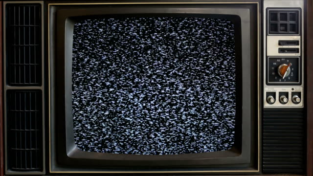 Old TV without signal. Old TV without signal,Obsolete Television dilapidated. group of objects stock videos & royalty-free footage