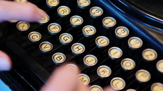 Old typewriter in 4k video