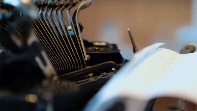 Old typewriter in 4k Professional video of old typewriter in 4k typewriter stock videos & royalty-free footage