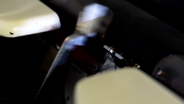 old typewriter slow motion - obsoleto video stock e b–roll