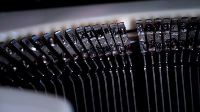 Old Typewriter Slow Motion video
