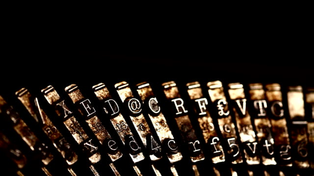 Old typewriter video