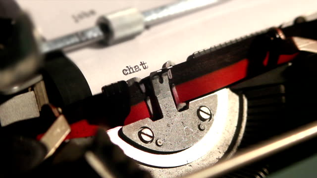 old typewriter write the word chat 3 videos in 1 clip scandal abc stock videos & royalty-free footage