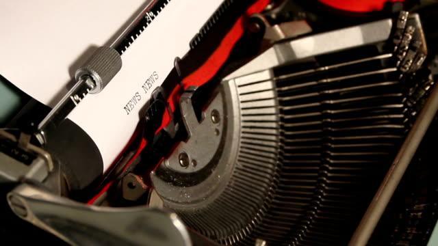 old typewriter write the word news video
