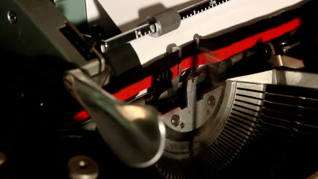old typewriter write the word newsletter video