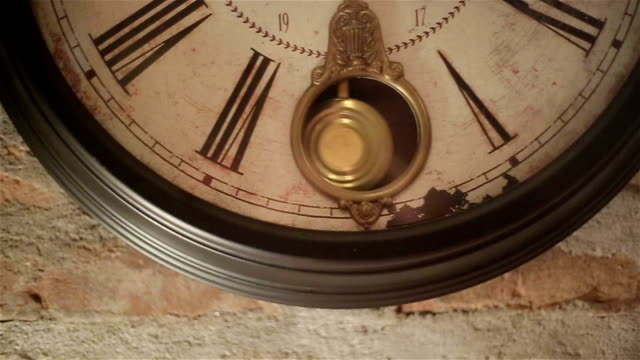 Old wall clock Old wall clock wall clock stock videos & royalty-free footage