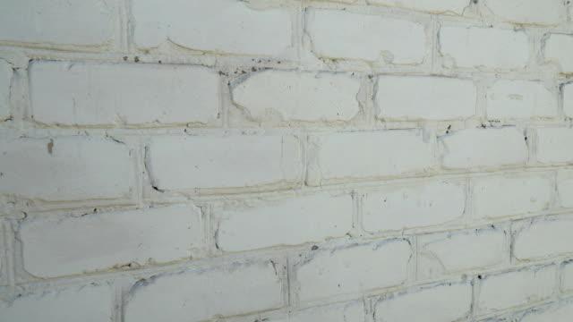 古い白いレンガの壁のテクスチャ背景 - セメント点の映像素材/bロール