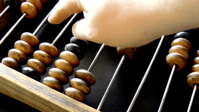 old wooden abacus video