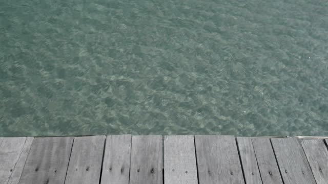 Old wooden bridge floor video