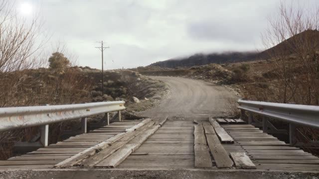 Old Wooden Bridge in Patagonia, Argentina.