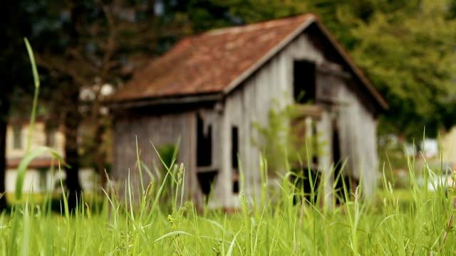 gammal trä kabin - roof farm bildbanksvideor och videomaterial från bakom kulisserna