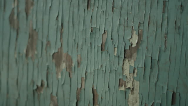 Old wooden surface. Cracked paint video