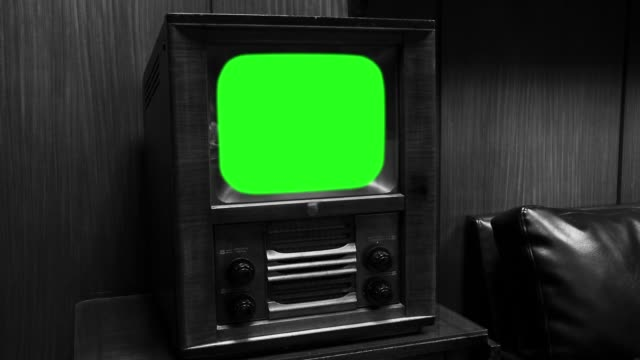 "Old Wooden Tv With Green Screen. Black And White Tone. Old Wooden Tv With Green Screen. Black And White Tone. Ready to Replace Green Screen with any Footage or Picture you Want. You can do it with ""Keying"" (Chroma Key) Effect in Adobe After Effects or Other Video Editing Software. Black and White Tone. Full HD. the past stock videos & royalty-free footage"