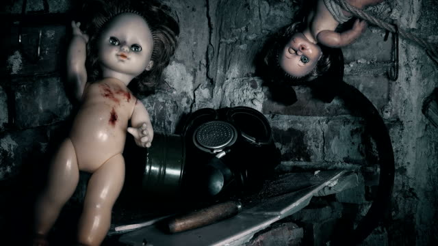 old,abandoned place in the area of radiation where there are toys,a gas mask old,abandoned place in the area of radiation where there are toys,a gas mask FullHD doll stock videos & royalty-free footage