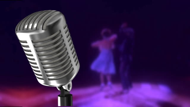old-fashioned microphone and ROCK-N-ROLL video