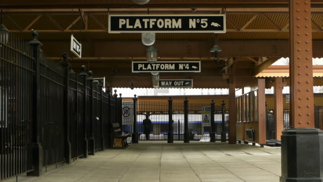 Old-Fashioned Railway Station video