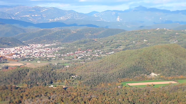 Olot views from the mountain video