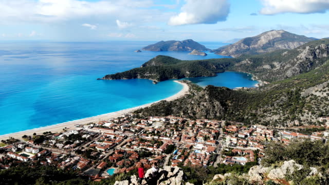 oludeniz beach from fethiye, turkey. - fethiye video stock e b–roll