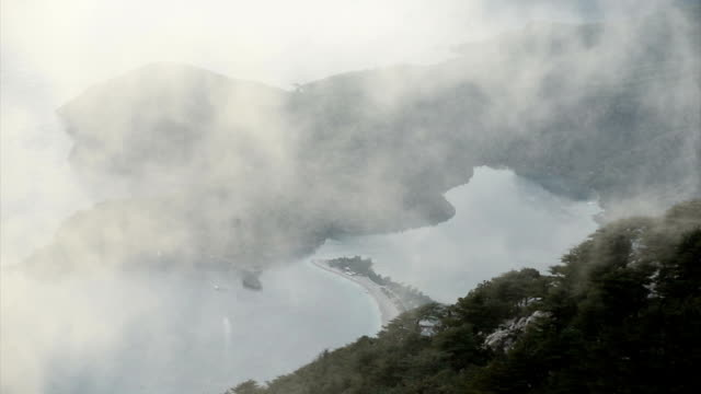 Oludeniz on a foggy day. Oludeniz on a foggy day. aegean turkey stock videos & royalty-free footage