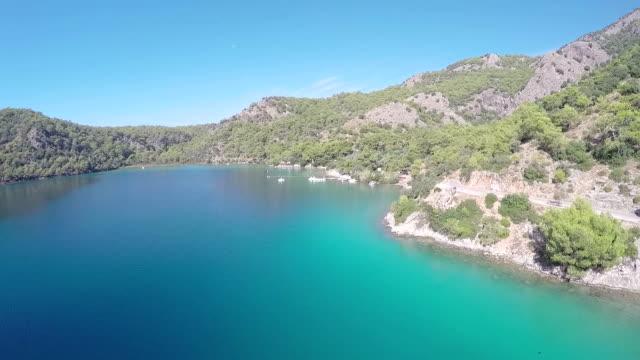 Oludeniz-Aerial video Blue lagoon from Oludeniz. aegean turkey stock videos & royalty-free footage