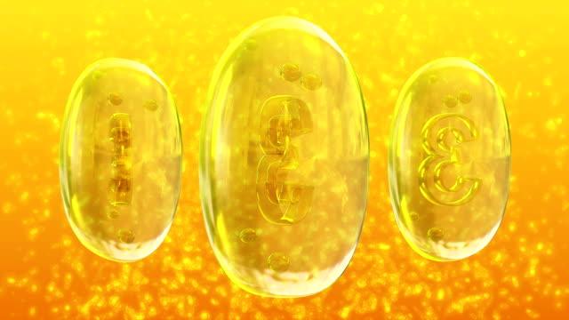 omega-3 - vitamin d стоковые видео и кадры b-roll
