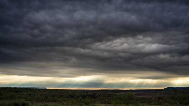 Ominous Clouds Passing Overhead - Time Lapse video