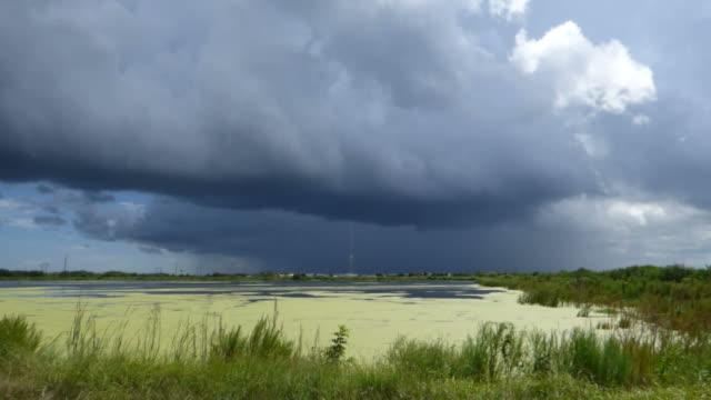 Ominous Shelf Cloud over a Lake video