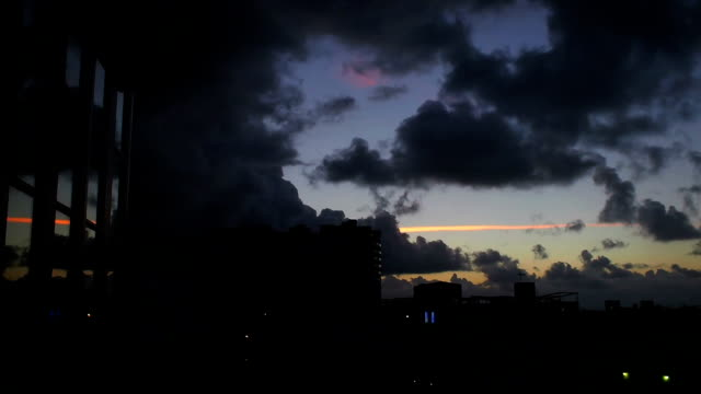 Ominous sunrise timelapse over Miami Beach video