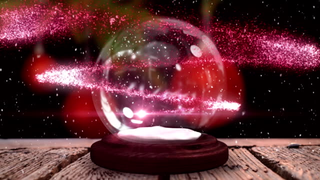 2021 on a snow globe Animation of number 2021 in white on a snow globe, pink shooting star and Christmas tree in the background happy new year 2021 stock videos & royalty-free footage